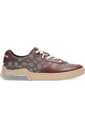 Coach Men's Men's Citysole Signature Jacquard & Leather Court Sneakers - Oak Jacquard - Size 9.5