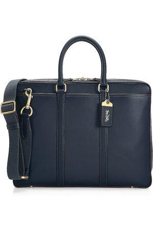 Coach Men's New Metropolitan Slim Brief Leather Bag - Midnight Navy Copper