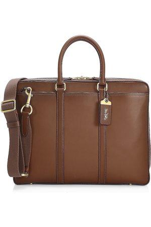 Coach Men's New Metropolitan Slim Brief Leather Bag - Saddle Brass