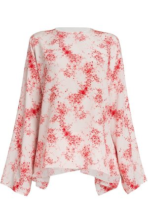 VALENTINO Women's Floral Long Sleeve Top - Multi - Size 6