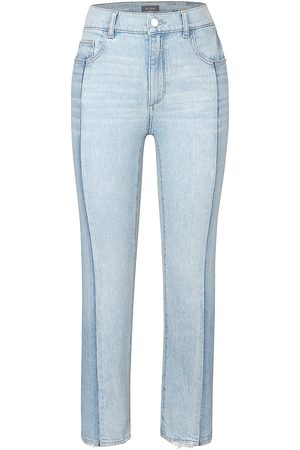 Dl 1961 Women's Patti High-Rise Straight Jeans - Powder Mixed - Size 26
