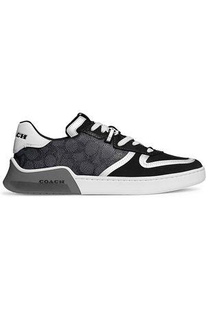 Coach Men's CitySole Signature Suede & Leather Court Sneakers - Charcoal - Size 8