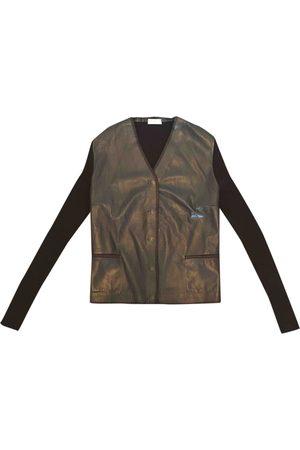 Brunello Cucinelli Leather cardigan