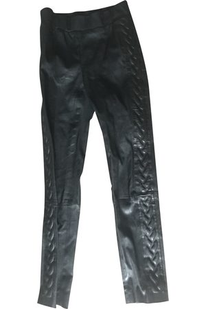 LES CHIFFONIERS Leather Trousers