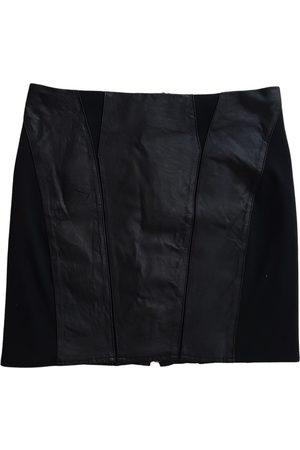 Derhy Leather mini skirt