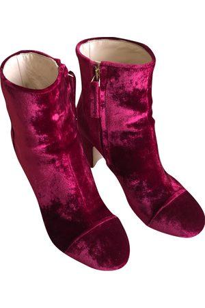 Polly Plume Velvet Ankle Boots