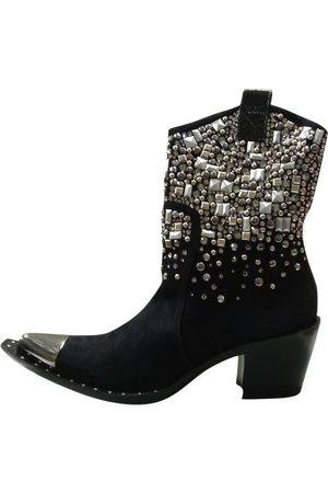GIANMARCO LORENZI Leather Ankle Boots