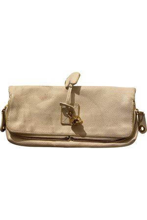 Alexander McQueen Skull leather clutch bag