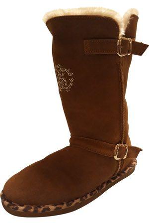 Roberto Cavalli Suede Boots