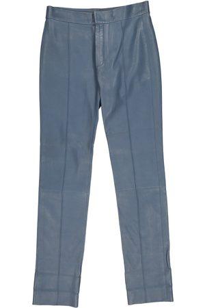 Chloé Leather straight pants