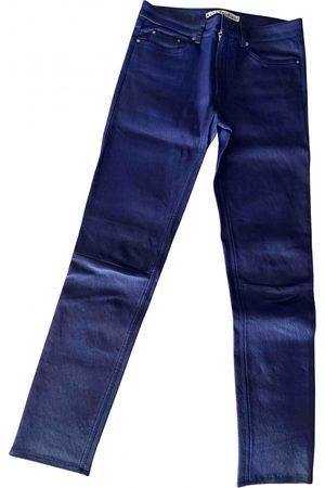 Acne Studios Women Leather Pants - Leather slim pants