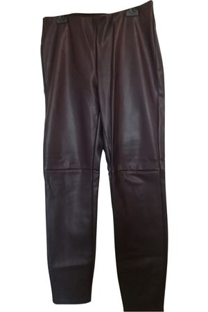 Cortefiel Leather Trousers