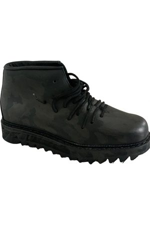 11 BY BORIS BIDJAN SABERI Leather Boots