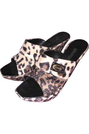 Roberto Cavalli Leather Mules & Clogs