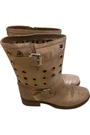 Elisabetta Franchi Leather Ankle Boots