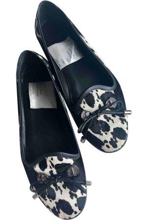 Moncler Pony-style calfskin Ballet Flats