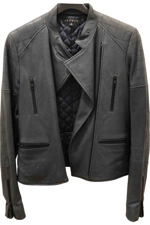 THEORY Women Leather Jackets - Leather biker jacket