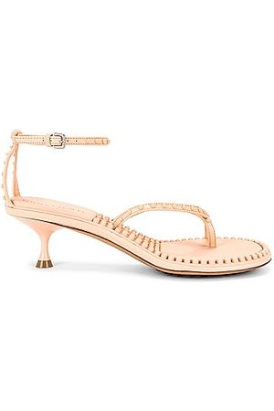 Bottega Veneta Dot Ankle Strap Sandals in Neutral