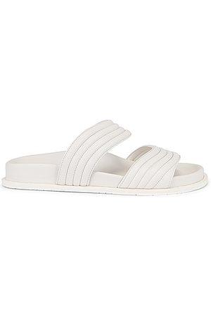 Alaïa Women Sandals - Leather Slides in