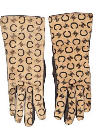 Céline Leather Gloves
