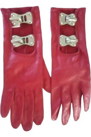 CLAUDE MONTANA Leather Gloves