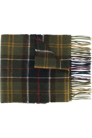 Barbour Men Scarves - Plaid fringed scarf