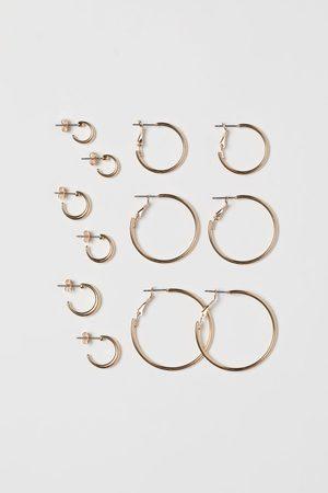 H & M Women Earrings - 6 Pairs Hoop Earrings