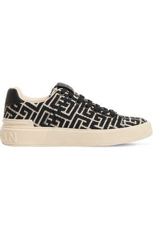 Balmain 20mm B Court Monogram Jacquard Sneakers