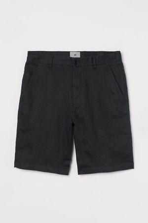 H&M Men Shorts - Straight Fit Linen Shorts