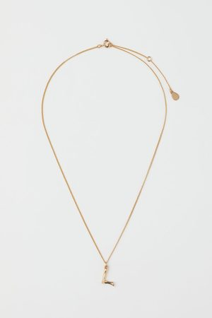 H&M Plated Pendant Necklace