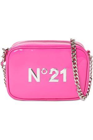 N°21 Logo Patent Faux Leather Shoulder Bag