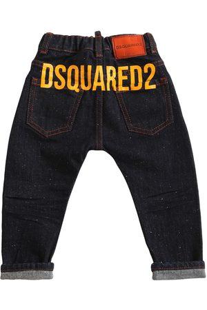 DSQUARED2 Logo Print Cotton Jeans