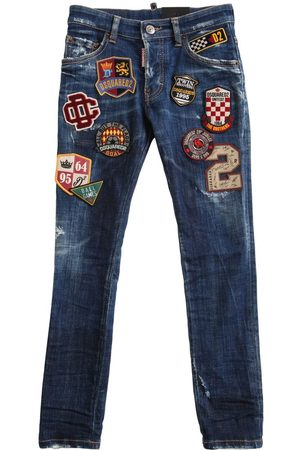 Dsquared2 Stretch Cotton Jeans W/ Patches