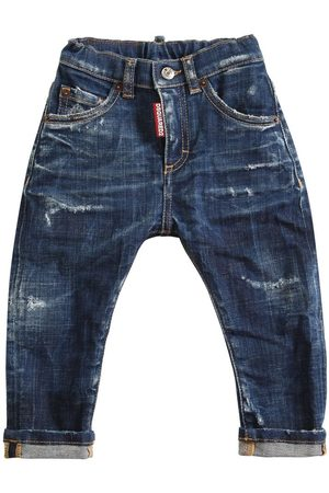 Dsquared2 Destroyed Stretch Cotton Jeans
