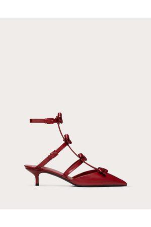 VALENTINO GARAVANI Women Heeled Pumps - Ankle Strap Pump With Kidskin French Bows 40 Mm Women Rosso Valentino 100% Lambskin 35