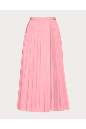 VALENTINO Women Pleated Skirts - Micro Faille Pleated Skirt Women Bright Polyester 46%, Cotton 54% 38