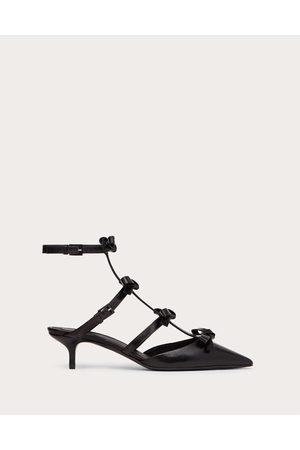 VALENTINO GARAVANI Women Heeled Pumps - Ankle Strap Pump With Kidskin French Bows 40 Mm Women 100% Lambskin 35