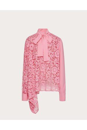 VALENTINO Women Tops - Heavy Lace Top Women Bright Silk 100% 38