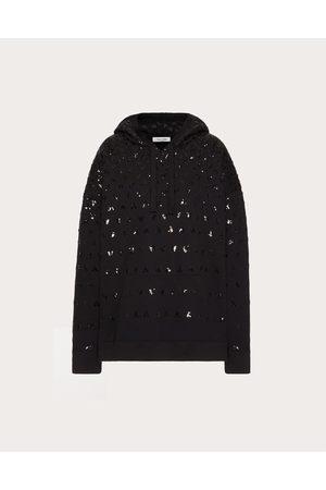 VALENTINO Women Sweatshirts - Embroidered Jersey Sweatshirt Women Cotton 100% L