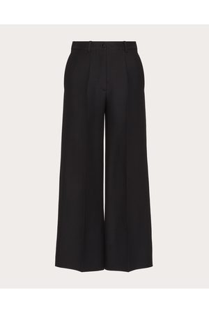 VALENTINO Women Straight Leg Pants - Crepe Couture Pants Women Silk 35%, Virgin Wool 65% 36