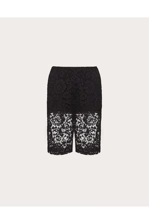 VALENTINO Women Bermudas - Heavy Lace Bermuda Shorts Women Cotton 34%, Viscose 43% 38