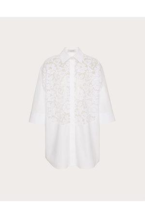 VALENTINO Women Shirts - Cotton Poplin And Heavy Lace Shirt Women Optic Cotton 100% 36