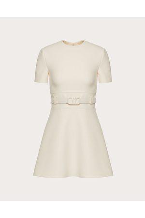 VALENTINO Women Dresses - Short Crepe Couture Dress Women Ivory Silk 35%, Virgin Wool 65% 40