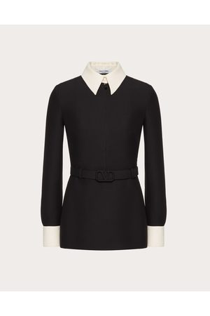 VALENTINO Women Tops - Crepe Couture Top Women /ivory Silk 35%, Virgin Wool 65% 38