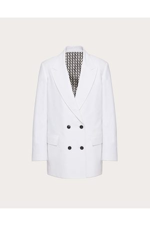 VALENTINO Women Denim Jackets - Denim Blazer Women Optic Cotton 100% 38