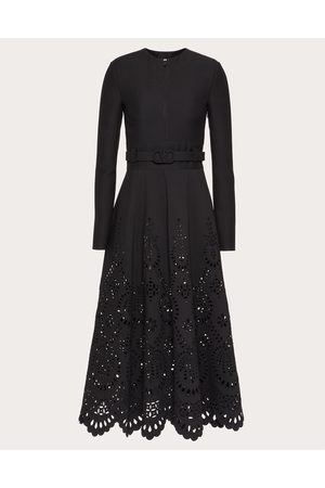 VALENTINO Women Dresses - San Gallo Edition Dress In Crepe Couture Women Silk 35%, Virgin Wool 65% 36