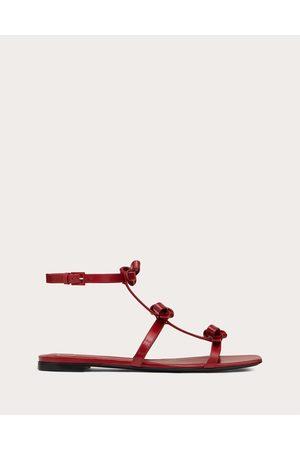 VALENTINO GARAVANI Women Sandals - French Bows Kidskin Flat Sandal Women Rosso Valentino 100% Lambskin 35