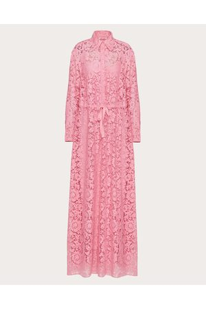 VALENTINO Women Evening dresses - Heavy Lace Evening Dress Women Bright Cotton 34%, Viscose 43% 36