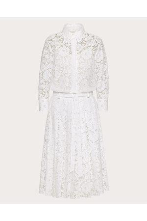 VALENTINO Women Casual Dresses - Shirt Dress In Heavy Lace Women Cotton 34%, Viscose 43% 36
