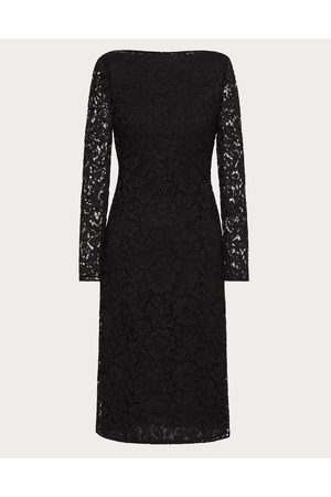 VALENTINO Women Midi Dresses - Stretch Heavy Lace Sheath Dress Women Elastane 8%, Cotton 31%, Viscose 40% 38